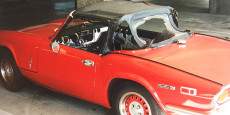 This was the car as purchased in 1994. A 1972 Triumph Spitfire Mk IV. I paid $2000 for it and it looked pretty decent from 15-20 feet away. Paint was...