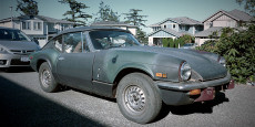 These are the official before shots of my 1972 Triumph GT6 MKIII. I drove it year-round for about 5 years and then parked it in the driveway for another 5....