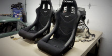 I purchased these Cobra Monaco Pro seats from MiniSport in the UK. I swear, shipping is going to be at least 25% the total cost of this project. Nice seats...